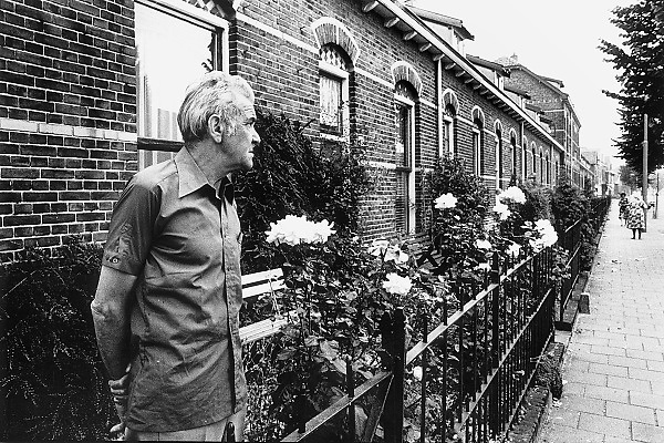 Nederland, Nijmegen, 10-10-1980Serie beelden over het wonen en sociale woningbouw in verschillende wijken van de stad.In het kader van stadsvernieuwing en renovatie van buurten gemaakt. In het waterkwartierFOTO: FLIP FRANSSEN/ HH