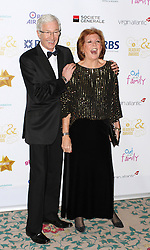 **FILE PICTURE - Paul O'Grady & Cilla Black, The Out In The City & g3 Readers Awards, The Landmark Hotel, London UK, 25 April 2014, Photo by Brett D. Cove/LNP