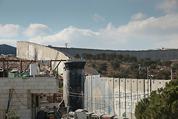 A view of the wall of separation near the Aida refugee camp in Bethlehem. From a series of photos commissioned by  British NGO, Medical Aid for Palestinians (MAP).