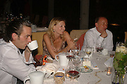 SANDRO KOPP, LOUISE DEAN winner of the LE PRINCE MAURICE PRIZE 2006 AND TIM LOTT. PRINCE MAURICE HOTEL. MAURITIUS. 27 May 2006. ONE TIME USE ONLY - DO NOT ARCHIVE  © Copyright Photograph by Dafydd Jones 66 Stockwell Park Rd. London SW9 0DA Tel 020 7733 0108 www.dafjones.com
