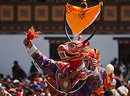 Mask dance performance at Tshechu Festival, Thimphu Dzong, Bhutan