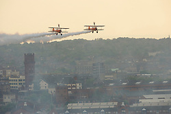 LIVERPOOL, ENGLAND - Tuesday, May 25, 2010: Breitling Wingwalkers perform over the River Mersey duing the Pageant of Power Liverpool event. (Pic Jon Buckle/Propaganda)