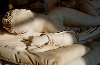 Sculpture of Hermaphroditas in repose - viewed from the front