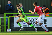 Forest Green Rovers Dominic Bernard(3) runs forward during the EFL Sky Bet League 2 match between Forest Green Rovers and Salford City at the New Lawn, Forest Green, United Kingdom on 18 January 2020.