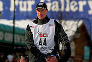 04 March 2006: Anchorage, Alaska - Thomas Knolmayer heads out at the Ceremonial Start in downtown Anchorage of the 2006 Iditarod Sled Dog Race