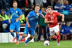 05.09.2015, St. Jakob Park, Basel, SUI, UEFA Euro 2016 Qualifikation, Schweiz vs Slowenien, Gruppe E, im Bild Valter Birsa (SVN) gegen Xherdan Shaqiri (SUI) // during the UEFA EURO 2016 qualifier group E match between Switzerland and Slovenia at the St. Jakob Park in Basel, Switzerland on 2015/09/05. EXPA Pictures © 2015, PhotoCredit: EXPA/ Freshfocus/ Urs Lindt<br /> <br /> *****ATTENTION - for AUT, SLO, CRO, SRB, BIH, MAZ only*****