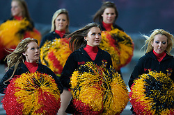 BRADFORD, ENGLAND - Friday, February 22, 2008: Bradford Bulls' cheerleaders during the Super League XIII Round 3 match at Odsal Satdium. (Photo by David Rawcliffe/Propaganda)
