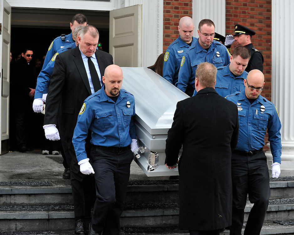 """A funeral service and procession is held for longtime Bethlehem Emergency Medical Service employee William """"Billy"""" Guth Jr. on March 21, 2015, in Bethlehem. (Chris Post   lehighvalleylive.com)"""