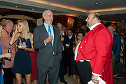 JENNIFER WADE; JOHN CLEESE; TOASTMASTER; ALEXANDER 'PAV' MICHAELS, , Jumeirah Carlton Tower - 50th anniversary party<br /> Jumeirah Carlton Tower Hotel, Knightsbridge, London, SW1. 13 June 2011<br /> <br /> <br />  , -DO NOT ARCHIVE-© Copyright Photograph by Dafydd Jones. 248 Clapham Rd. London SW9 0PZ. Tel 0207 820 0771. www.dafjones.com.