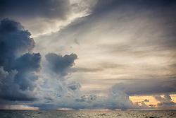 storm clouds at Dawn over the ocean in Fort Lauderdale, Florida