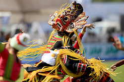 July 26, 2017 - Galle, Sri Lanka - A Sri Lankan traditional dancer performs during the opening ceremony  of 1st Test match between Sri Lanka and India at the Galle cricket stadium, Galle, Sri Lanka on Wednesday 26 July 2017. (Credit Image: © Tharaka Basnayaka/NurPhoto via ZUMA Press)