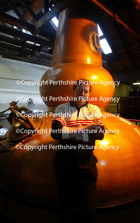 Eric Vermeire, who gave up his home and life in Belgium,  and relocated his wife and children, to come and work for 'The Famous Grouse Experience' at the Glenturret Distillery because he is mad about whisky.<br />