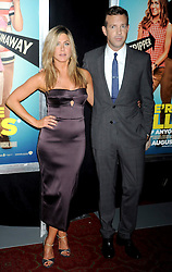 01.08.2013, Ziegfeld Theater, New York, USA, Filmpremiere, We are the Millers, im Bild Jennifer Aniston and Jason Sudeikis // during photocall for the movie 'We are the Millers'at the Ziegfeld Theater in New York, United States of Amerika on 2013/08/01. EXPA Pictures © 2013, PhotoCredit: EXPA/ Newspix/ Dennis Van Tine<br /> <br /> ***** ATTENTION - for AUT, SLO, CRO, SRB, BIH, TUR, SUI and SWE only *****