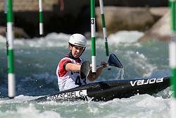 Cindy POESCHEL of Germany during the Canoe Single (WK1) Womens Semi Final race of 2019 ICF Canoe Slalom World Cup 4, on June 28, 2019 in Tacen, Ljubljana, Slovenia. Photo by Sasa Pahic Szabo / Sportida