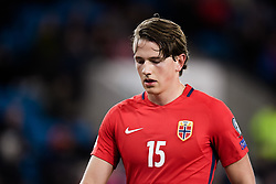 October 8, 2017 - Oslo, NORWAY - 171008  Sander Berge of Norway looks dejected during the FIFA World Cup Qualifier match between Norway and Northern Ireland on October 8, 2017 in Oslo..Photo: Jon Olav Nesvold / BILDBYRÃ…N / kod JE / 160041 (Credit Image: © Jon Olav Nesvold/Bildbyran via ZUMA Wire)