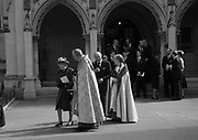 QUEEN ELIZABETH 11; PRINCE PHILIP LEAVING, Service of thanksgiving for  Lord Snowdon, St. Margaret's Westminster. London. 7 April 2017