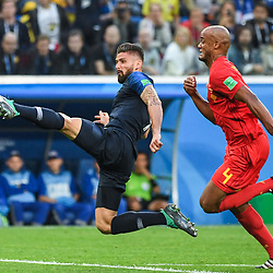 Olivier Giroud of France and Vicent Kompany of Belgium during the Semi Final FIFA World Cup match between France and Belgium at Krestovsky Stadium on July 10, 2018 in Saint Petersburg, Russia. (Photo by Anthony Dibon/Icon Sport)