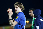 AFC Wimbledon defender Mads Bech Sorensen (26) clapping during the EFL Sky Bet League 1 match between AFC Wimbledon and Peterborough United at the Cherry Red Records Stadium, Kingston, England on 18 January 2020.