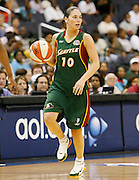 Seattle Storm guard Sue Bird during this WNBA game between the Mystics and the Storm at the Verizon Center in Washington, DC. The Storm won 73-71.  July 23, 2006  (Photo by Mark W. Sutton)