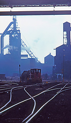 Train Cars Carrying Molten Steel