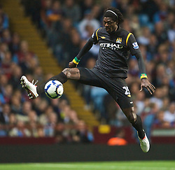 BIRMINGHAM, ENGLAND - Monday, October 5, 2009: Manchester City's Emmanuel Adebayor in action against Aston Villa during the Premiership match at Villa Park. (Pic by David Rawcliffe/Propaganda)