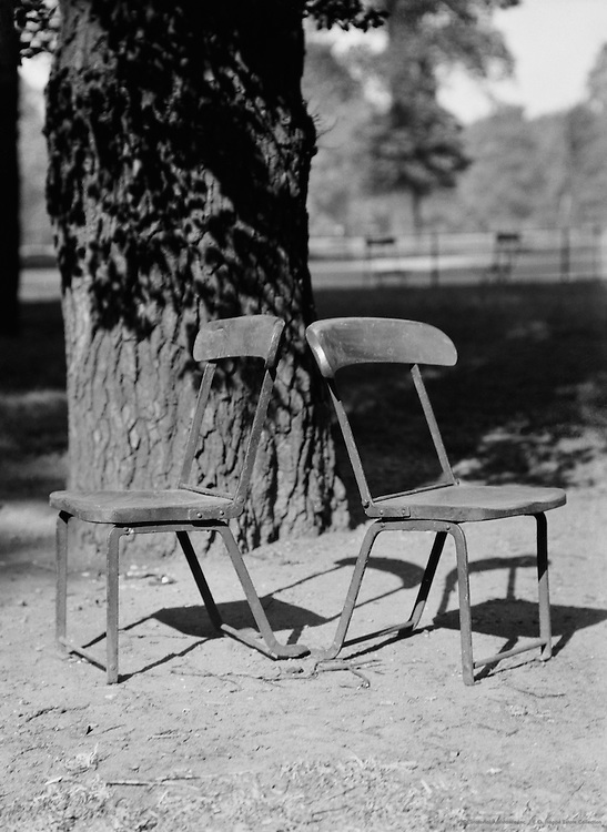 Chairs in Kensington Gardens, Still Life, London, 1928