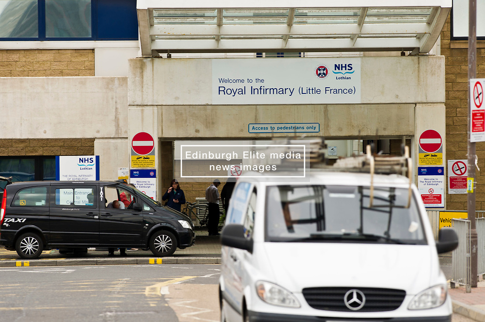 Pictured: <br /> <br /> It was business as usual for a a busy hospital as police in Edinburgh attended the Edinburgh Royal Infirmary at 9.06 am today, Thursday 22nd June, after staff became suspicious about a man seen in the hospital.<br /> <br /> Officers made a search of the hospital along with NHS security. <br /> <br /> The man was not traced and further inquiries are being carried out to establish his reason for being at the hospital.<br /> <br /> <br /> Ger Harley   EEm 22 June 2017