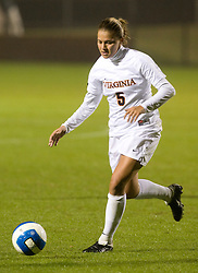 Virginia Cavaliers M/F Shannon Foley (5)..The #3 ranked Virginia Cavaliers Women's Soccer team defeated the Maryland Terrapins 3-0 at Klockner Stadium in Charlottesville, VA on October 25, 2007.