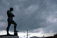 Photo: Tony Oudot.<br /> England v Brazil. International Friendly. 01/06/2007.<br /> The Bobby Moore statue overlooking Wembley Way