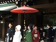 A traditional wedding procession Tokyo Japan Meiji Jingu Shrine
