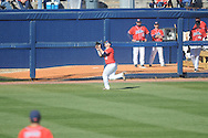Ole Miss' Tanner Mathis (12) vs. Rhode Island at Oxford-University Stadium in Oxford, Miss. on Sunday, February 24, 2013. Ole Miss won 5-3 to improve to 7-0.