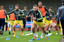 Bristol Rovers players warm up - Mandatory by-line: Jason Brown/JMP - 05/11/2016 - FOOTBALL - Checkatrade.com Stadium - Crawley, England - Crawley Town v Bristol Rovers - Emirates FA Cup first round