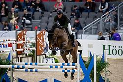 MATHY Francois Jr (BEL), Uno de la Roque<br /> Göteborg - Gothenburg Horse Show 2019 <br /> Longines FEI Jumping World Cup™ Final<br /> Training Session<br /> Warm Up Springen / Showjumping<br /> Longines FEI Jumping World Cup™ Final and FEI Dressage World Cup™ Final<br /> 03. April 2019<br /> © www.sportfotos-lafrentz.de/Stefan Lafrentz
