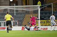 Partick Thistle&rsquo;s Kris Doolan scores his side's second goal - Dundee v Partick Thistle in the Ladbrokes Scottish Premiership at Dens Park, Dundee. Photo: David Young<br /> <br />  - &copy; David Young - www.davidyoungphoto.co.uk - email: davidyoungphoto@gmail.com