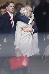 © Licensed to London News Pictures. 16/12/2019. London, UK. Trade Secretary Liz Truss hugs Co-Chairman of the Conservative Party James Cleverly as she arrives at Parliament. Parliament will sit tomorrow with newly elected MPs taking their seats ahead of the State Opening of Parliament on Thursday. Photo credit: Peter Macdiarmid/LNP