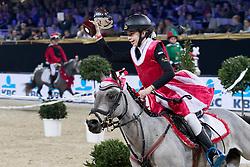 Thijs Ylona, BEL,Sarina<br /> Knock Out springen ponies<br /> Vlaanderens Kerstjumping Memorial Eric Wauters - Juming Mechelen 2016<br /> © Dirk Caremans<br /> 26/12/2016er