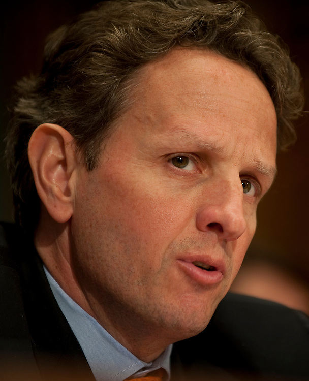 Apr 29,2010 - Washington, District of Columbia USA -.Treasury Secretary Timothy Geithner testifies before the Financial Services and General Government Subcommittee hearing..(Credit Image: © Pete Marovich/ZUMA Press)