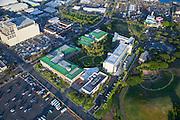 Aerial, Burns Medical Center, Honolulu, Oahu, Hawaii