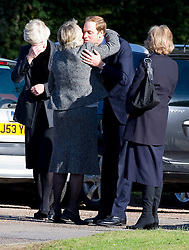 Prince William attends the funeral of his former nanny Olga Powell in Harlow, Essex , Wednesday, 10th October 2012.  Photo by: i-Images