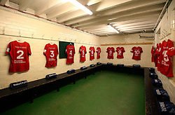 Bristol Rugby dressing room laid out at Nottingham Rugby - Mandatory by-line: Robbie Stephenson/JMP - 06/04/2018 - RUGBY - The Bay - Nottingham, England - Nottingham Rugby v Bristol Rugby - Greene King IPA Championship
