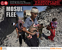 zReportage.com Story of the Week # 653 -  Mosul Flee - Launched Dec. 30, 2017 - Full multimedia experience: audio, stills, text and or video: Go to zReportage.com to see more - A glimpse into the faces and moments of those affected by the fierce conflict with ISIS in Mosul. Wounded and weak, most who survived now face an uncertain future in the limbo of IDP camps. Shattered lives, lost loved ones and escape from the rubble of collapsed homes and the evil of ISIS doctrine, leaves scars of emotional trauma even more difficult to heal. The war in Mosul is over, but the humanitarian crisis continues. (Credit Image: ? Carol Guzy/zReportage.com via ZUMA Wire)