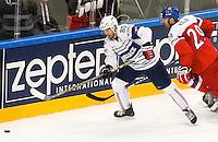 Teddy Da Costa - 07.05.2015 - Republique Tcheque / France - Championnat du Monde de Hockey sur Glace <br />Photo : Xavier Laine / Icon Sport