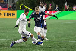 October 13, 2018 - Foxborough, Massachusetts - October 13, 2018:  The New England Revolution (blue/white) beat Orlando City Soccer Club (white) 2-0 in a Major League Soccer (MLS) match at Gillette Stadium. (Credit Image: © Tim Bouwer/ISIPhotos via ZUMA Wire)