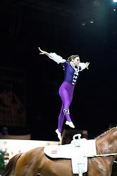 Daniela Fritz, (AUT), Caramel, Maria Lehrmann - Individuals Women Final Vaulting - Alltech FEI World Equestrian Games™ 2014 - Normandy, France.<br /> © Hippo Foto Team - Jon Stroud<br /> 05/09/2014