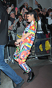 11.SEPTEMBER.2013. LONDON<br /> <br /> RIHANNA LEAVING HER LONDON HOTEL WEARING JEANS AND T-SHIRT WITH COUNTRIES FLAGS PRINTED ALL OVER.<br /> <br /> BYLINE: EDBIMAGEARCHIVE.CO.UK<br /> <br /> *THIS IMAGE IS STRICTLY FOR UK NEWSPAPERS AND MAGAZINES ONLY*<br /> *FOR WORLD WIDE SALES AND WEB USE PLEASE CONTACT EDBIMAGEARCHIVE - 0208 954 5968*