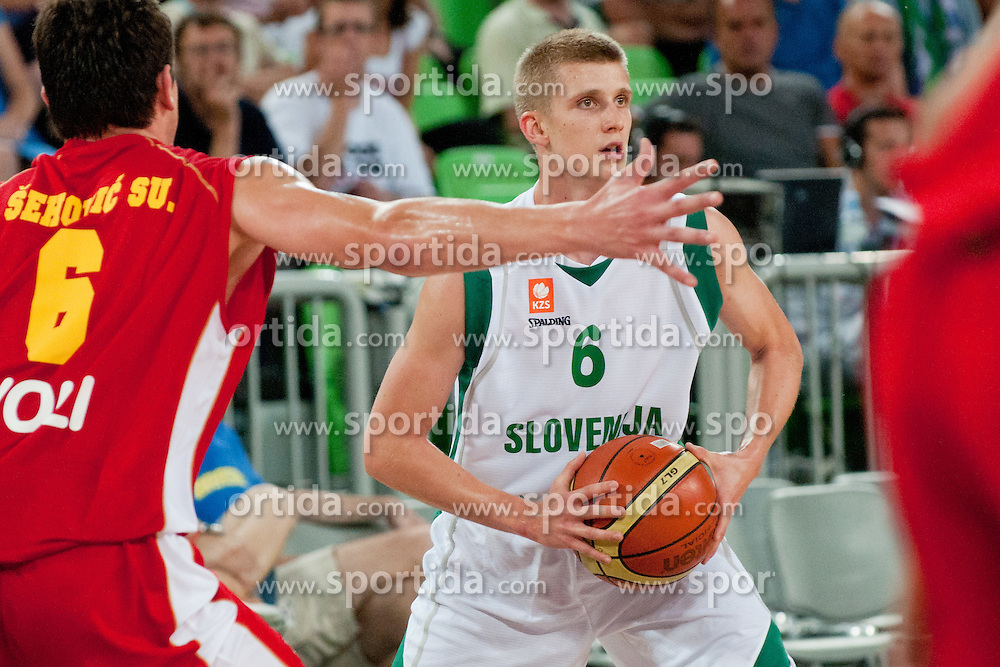 Luka Rupnik of Slovenia at friendly match between Slovenia and Montenegro for Adecco Cup 2011 as part of exhibition games before European Championship Lithuania on August 7, 2011, in SRC Stozice, Ljubljana, Slovenia. (Photo by Matic Klansek Velej / Sportida)