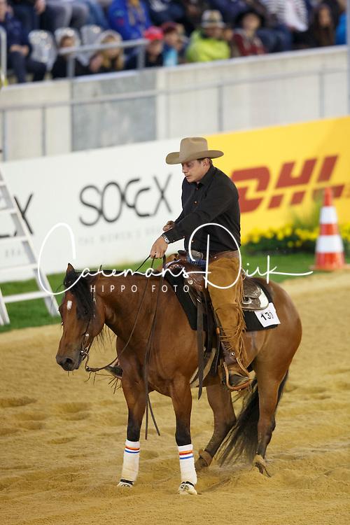 Van Den Berg Olivier, (NED), Footworks X Factor<br /> Reining individual<br /> European Championships - Aachen 2015<br /> &copy; Hippo Foto - Dirk Caremans<br /> 16/08/15