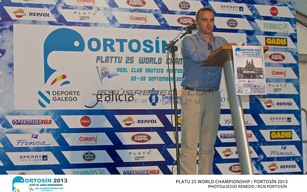 Platu 25 World Championships, Portosín , Galicia, Spain. 24-29 September 2013. Opening Ceremony ©