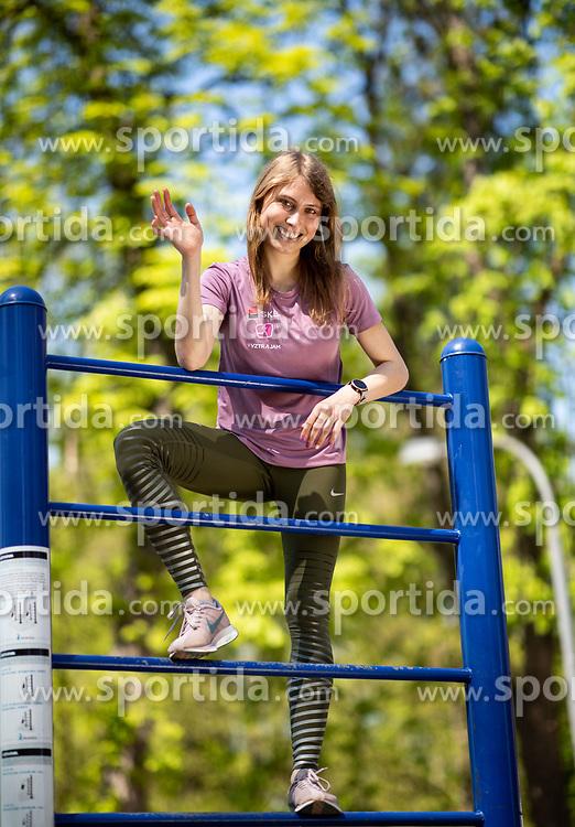 Marusa Mismas, Slovenian Steeplechase Athlete, on April 19th, 2019, in Ljubljana, Slovenia. Photo by Vid Ponikvar / Sportida