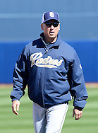 PEORIA, AZ - FEBRUARY 24:  Manager Bud Black walks on the field prior to the spring training game against the San Diego Padres at Peoria Sports Complex on February 24, 2013 in Peoria, Arizona.  (Photo by Jennifer Stewart/Getty Images) *** Local Caption *** Bud Black